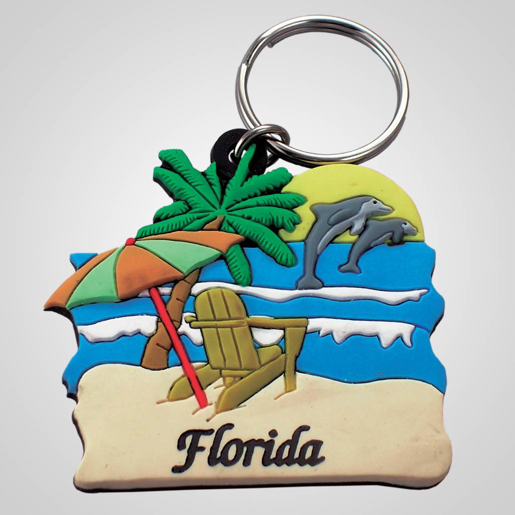 16630 - Beach Scene Keychain
