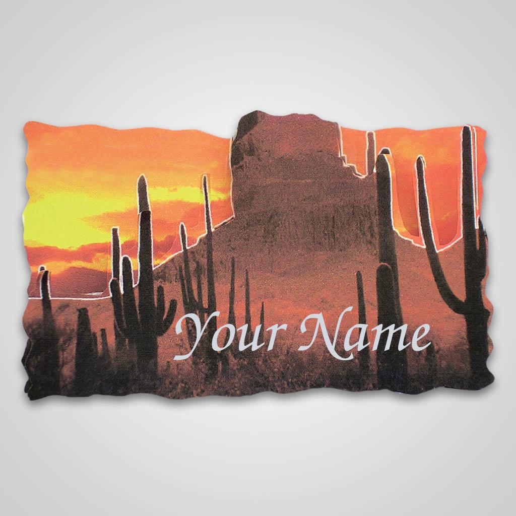 16903 - Desert Scene Bi-Level Magnet, Name-Drop