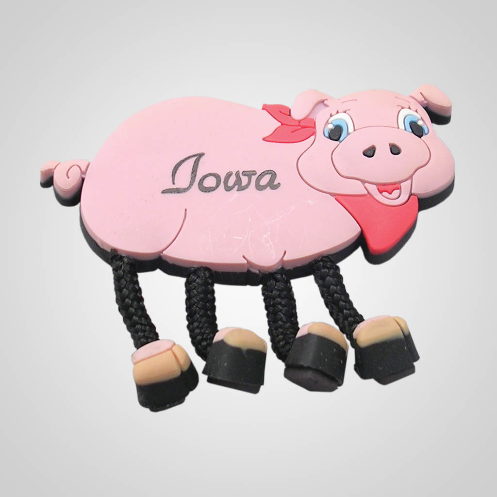 16906 - Dangle-Leg Pig Magnet, Name-Drop