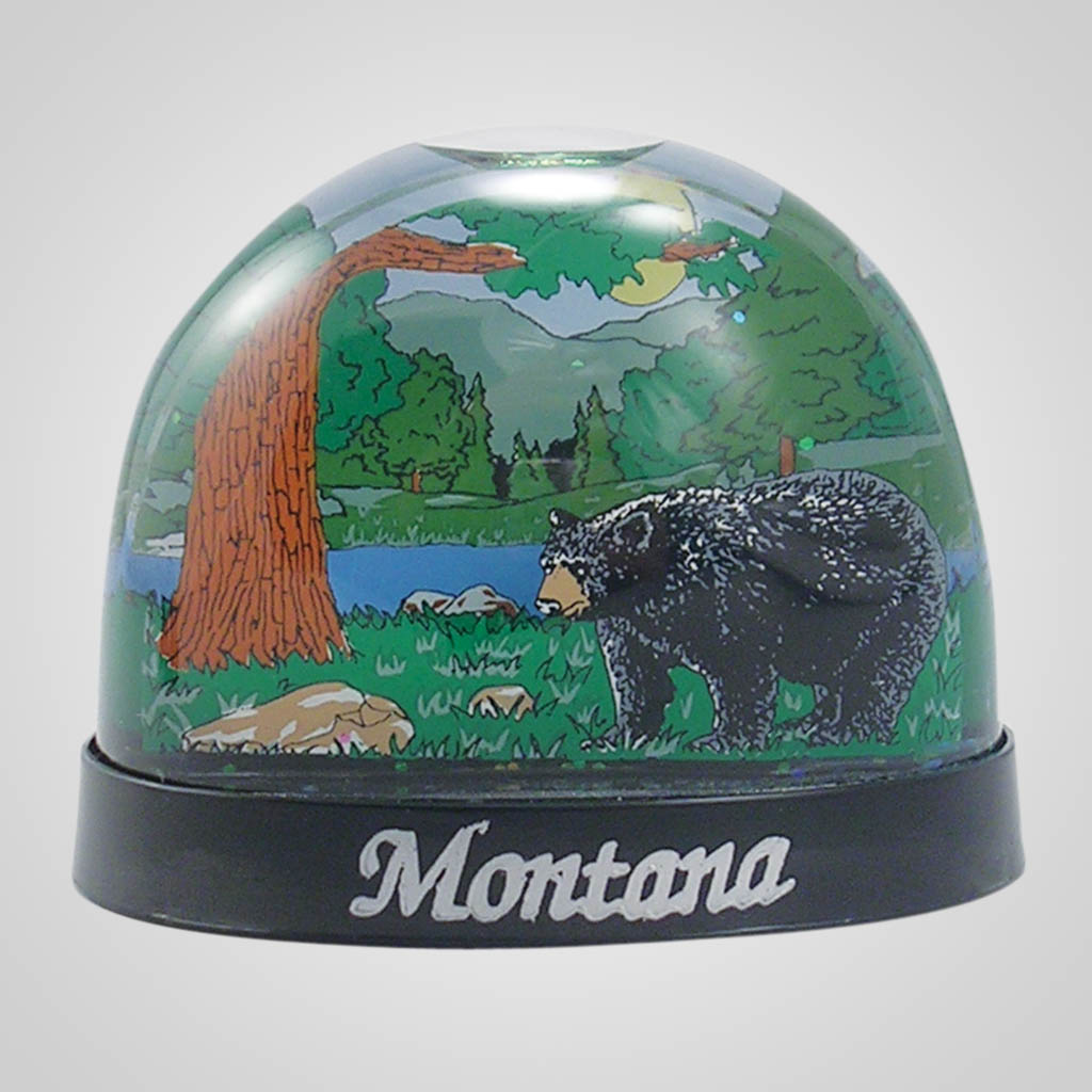 16909 - Black Bear Waterglobe, Name-Drop