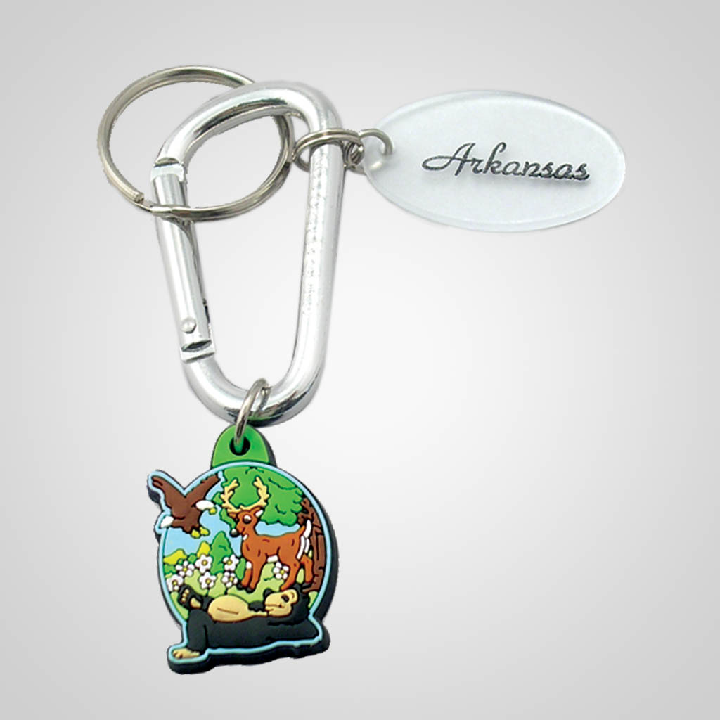 16912 - Forest Carabiner Keychain, Name-Drop