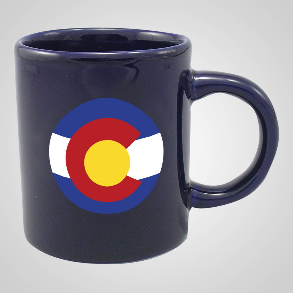 16920PPM - Cobalt Glaze Mug, Multi-Color Print