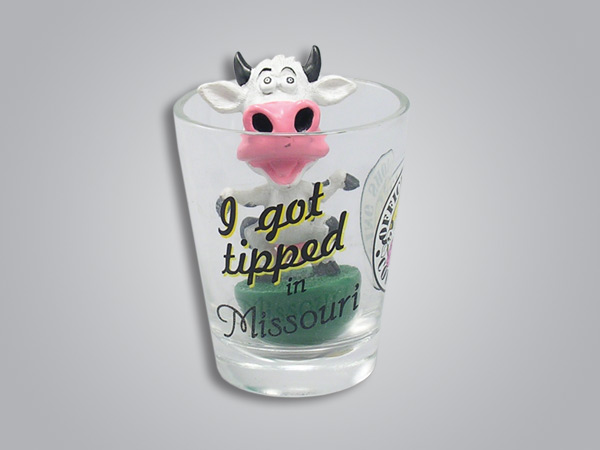 16964PP - Cow Tipping Shot Glass