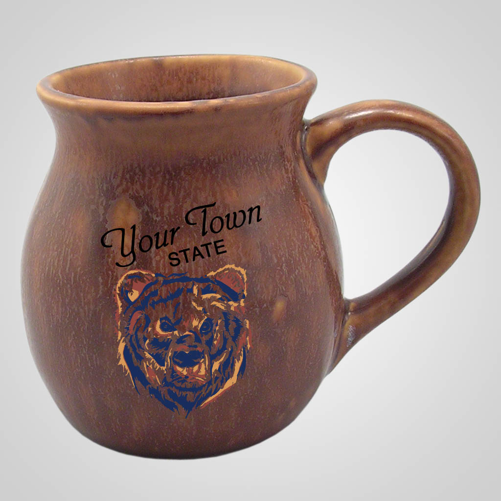 16976PPM - Pottery Look Mug, Multi-Color Print