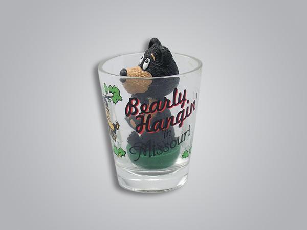 17023PP - Bear Bobble Head Shot Glass