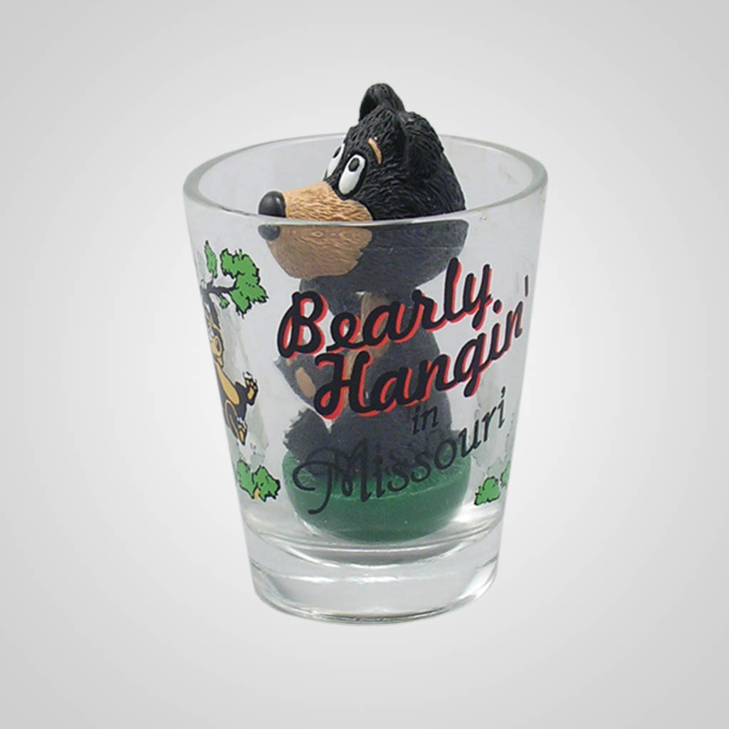 17023PP - Bear Bobble Head Shot Glass, Name-Drop