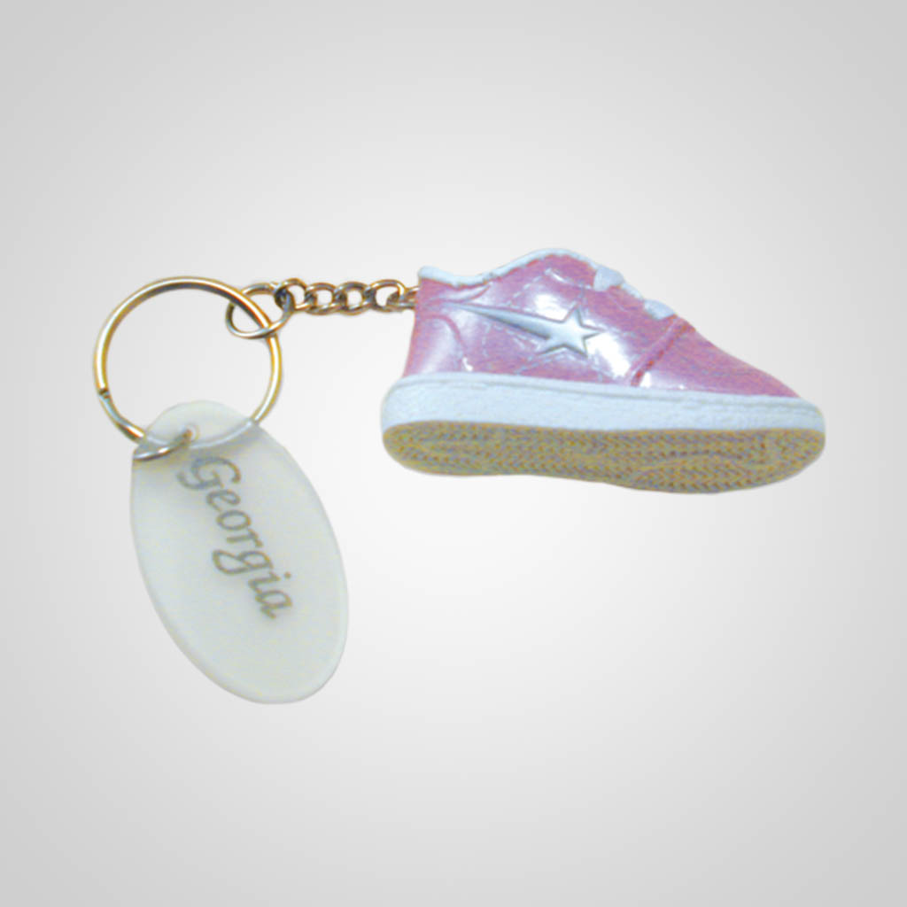 17049 - Tennis Shoe Keychain, Name-Drop