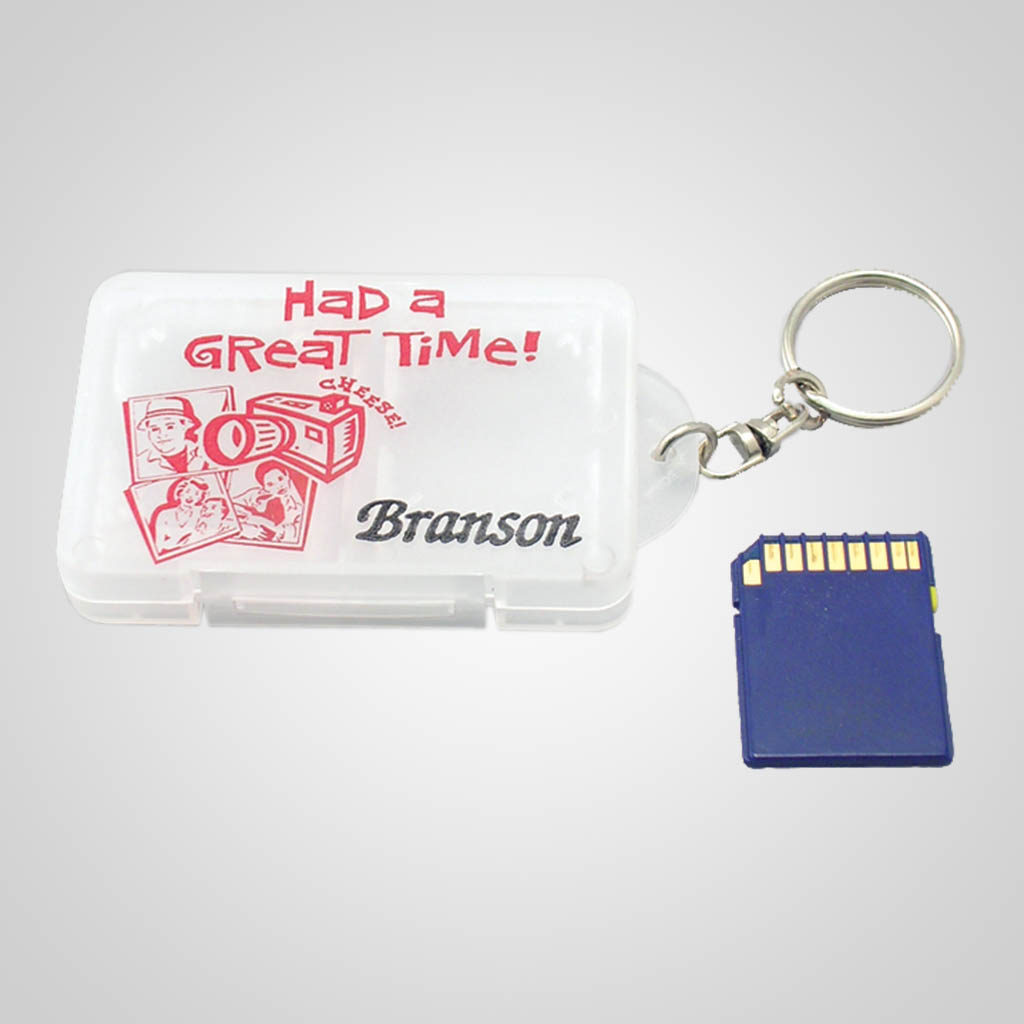 17055 - Camera SD Card Case Keychain, Name-Drop
