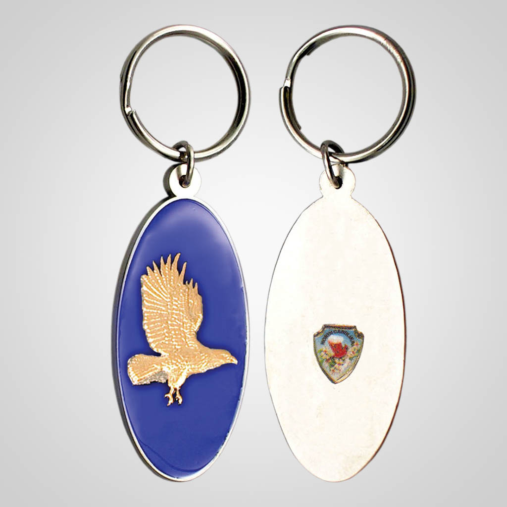 17127 - Eagle Keychain With Shield