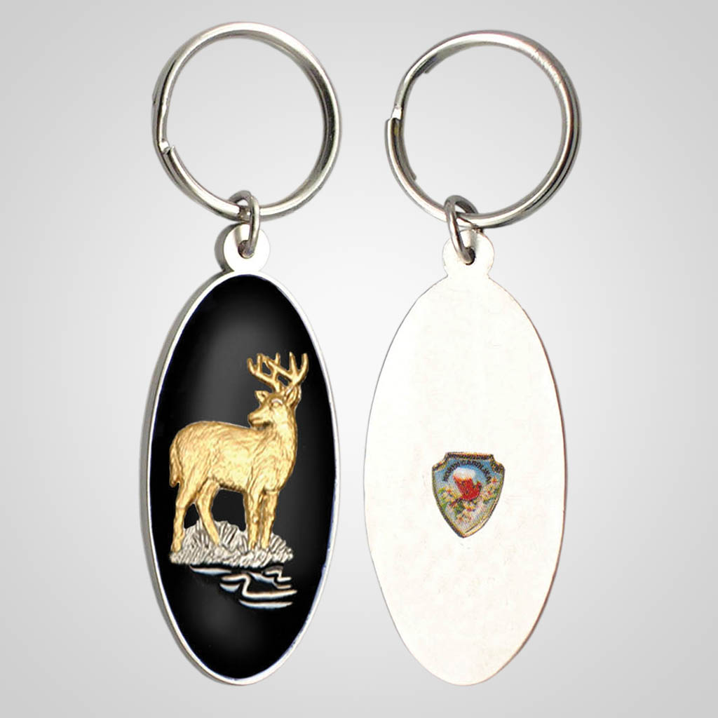 17129 - Deer Keychain With Shield