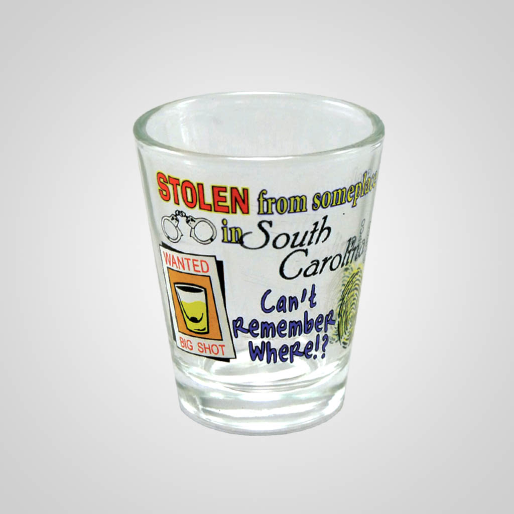 17133PP - Stolen Comic Shot Glass, Name-Drop