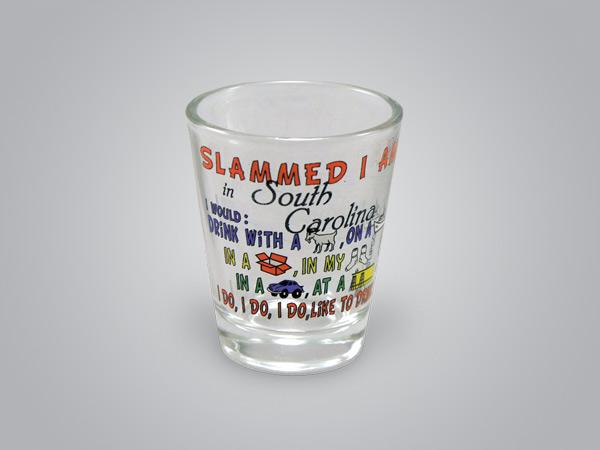 17134PP - Slammed I Am Comic Shot Glass