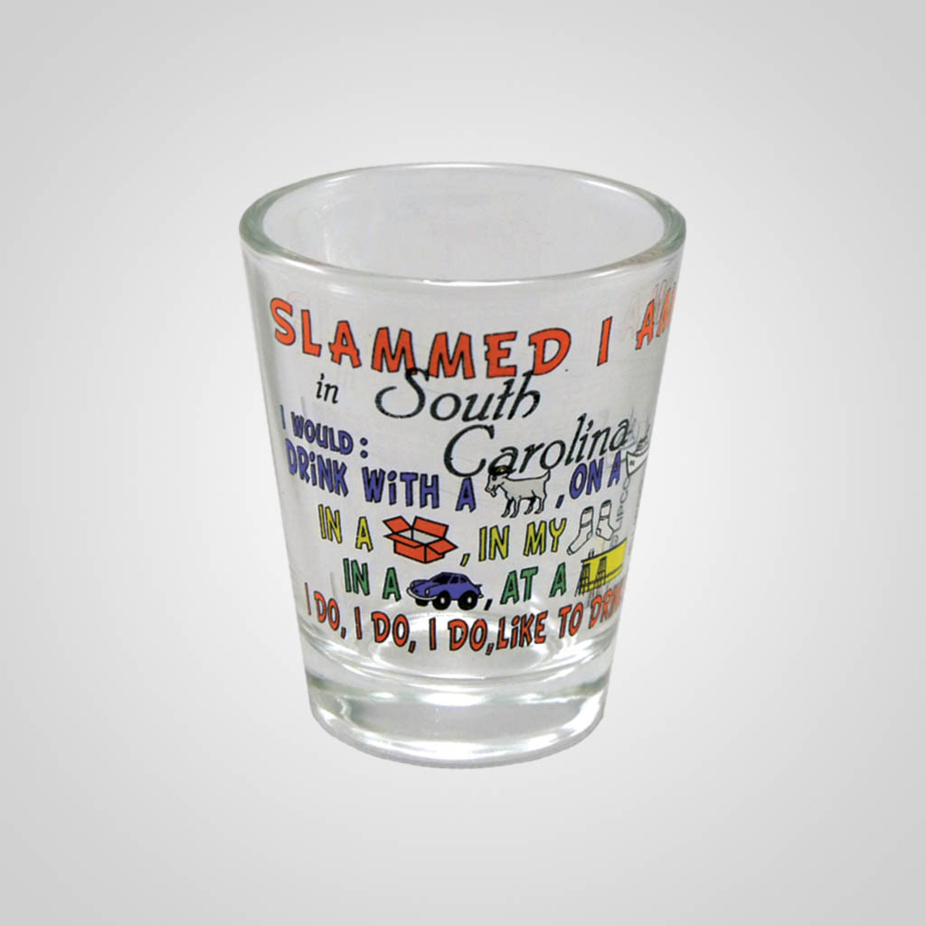 17134PP - Slammed I Am Comic Shot Glass, Name-Drop