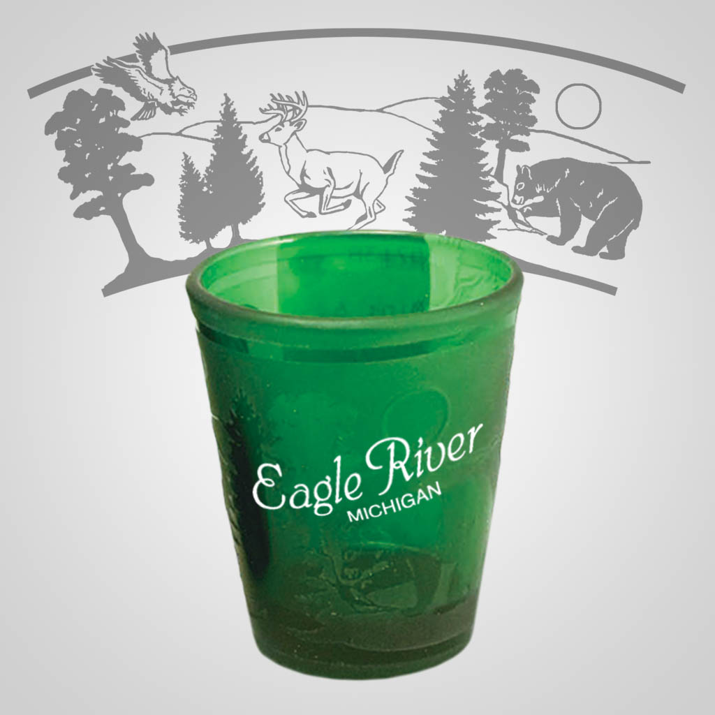 17138PP - Forest Etch Shot Glass, 1 Color Print