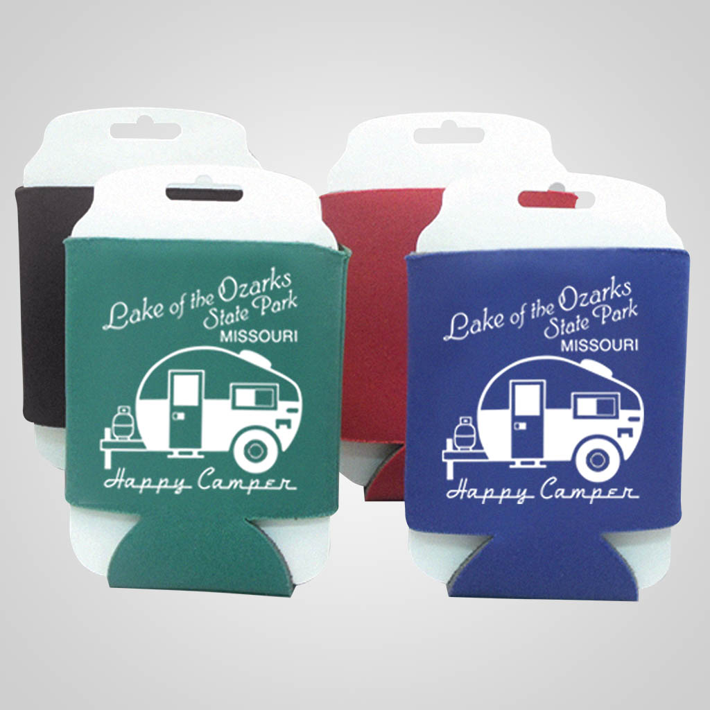 17145C - Can Cooler, Custom (Carded) - Imprinted