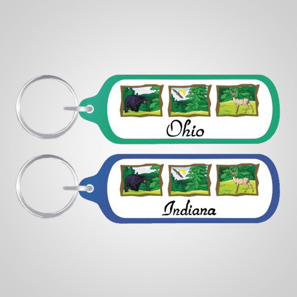 17160 - Rectangular Wilderness Keychain, Name-Drop
