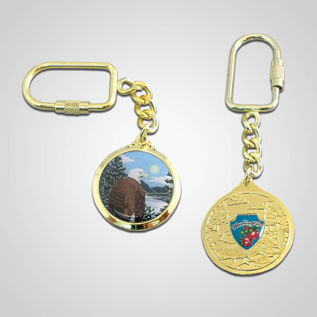 17182 - Gold-Tone Shield Keychain, Eagle