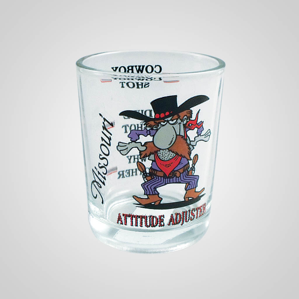 17201PP - Attitude Adjuster Double Shot Glass - Imprinted