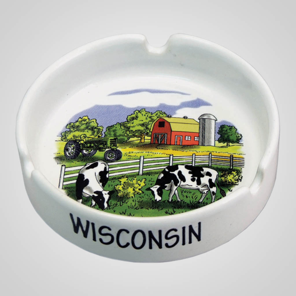 17651PP - Heartland Ashtray, 1 Color Print