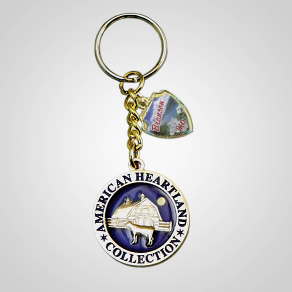 17660 - Round Keychain With Shield Charm, Farm