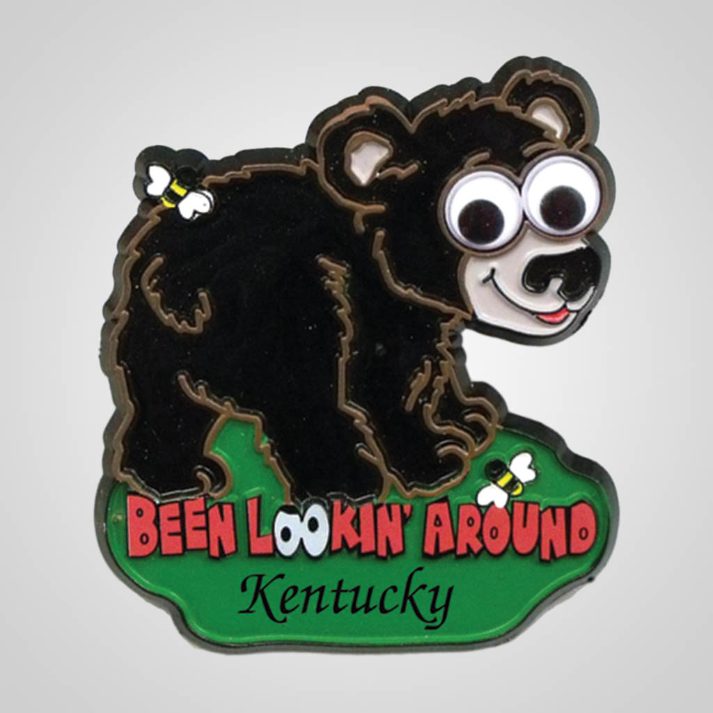 17710 - Googly Eyed Bear Magnet, Name-Drop