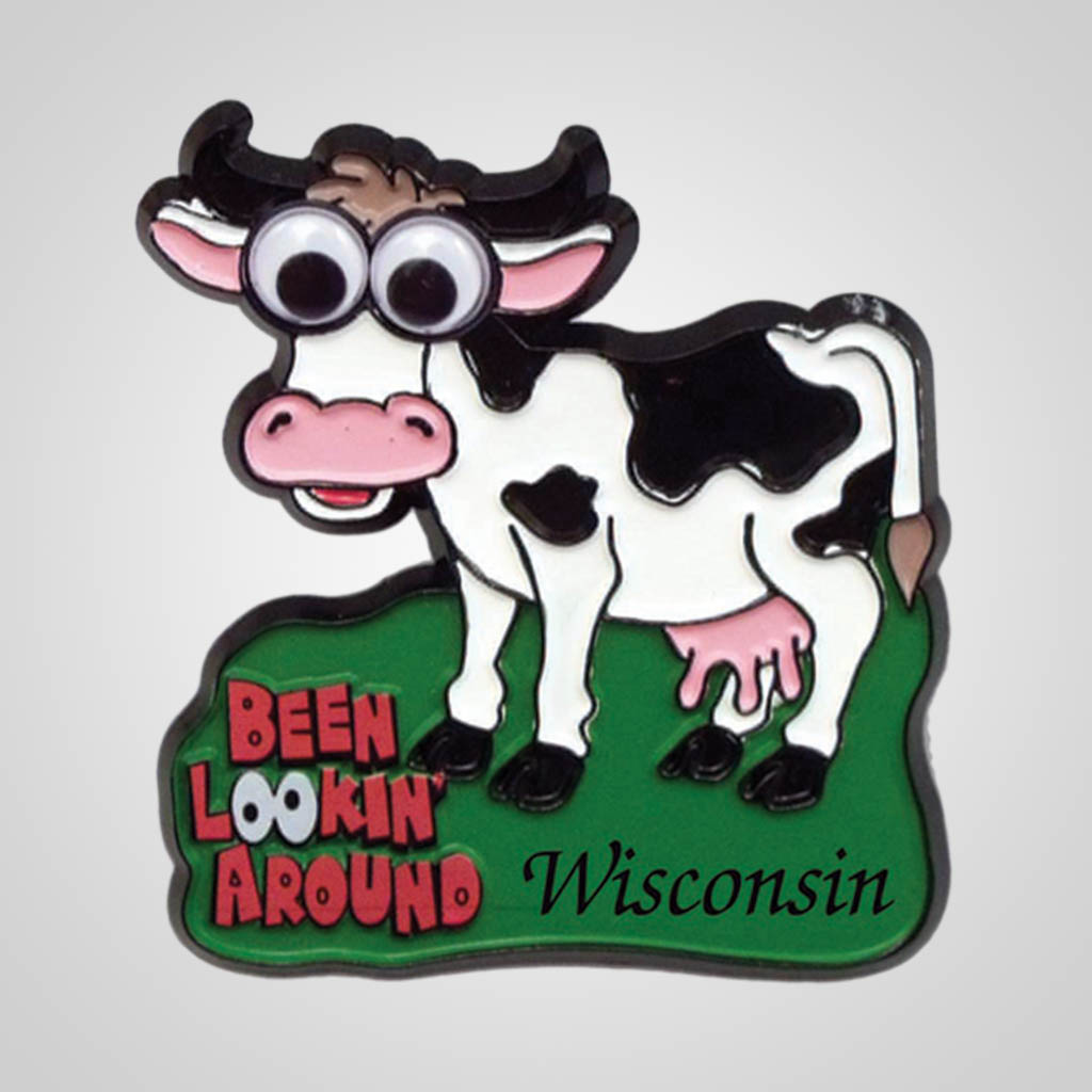 17711 - Googly Eyed Cow Magnet, Name-Drop