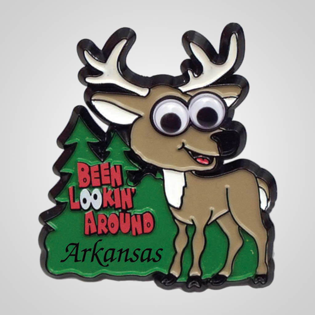 17712 - Googly Eyed Deer Magnet, Name-Drop
