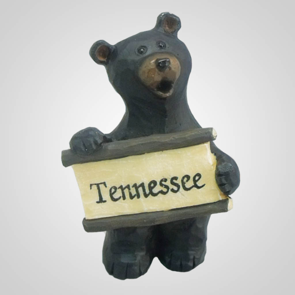 17895 - Bear Figurine With Sign, Name-Drop