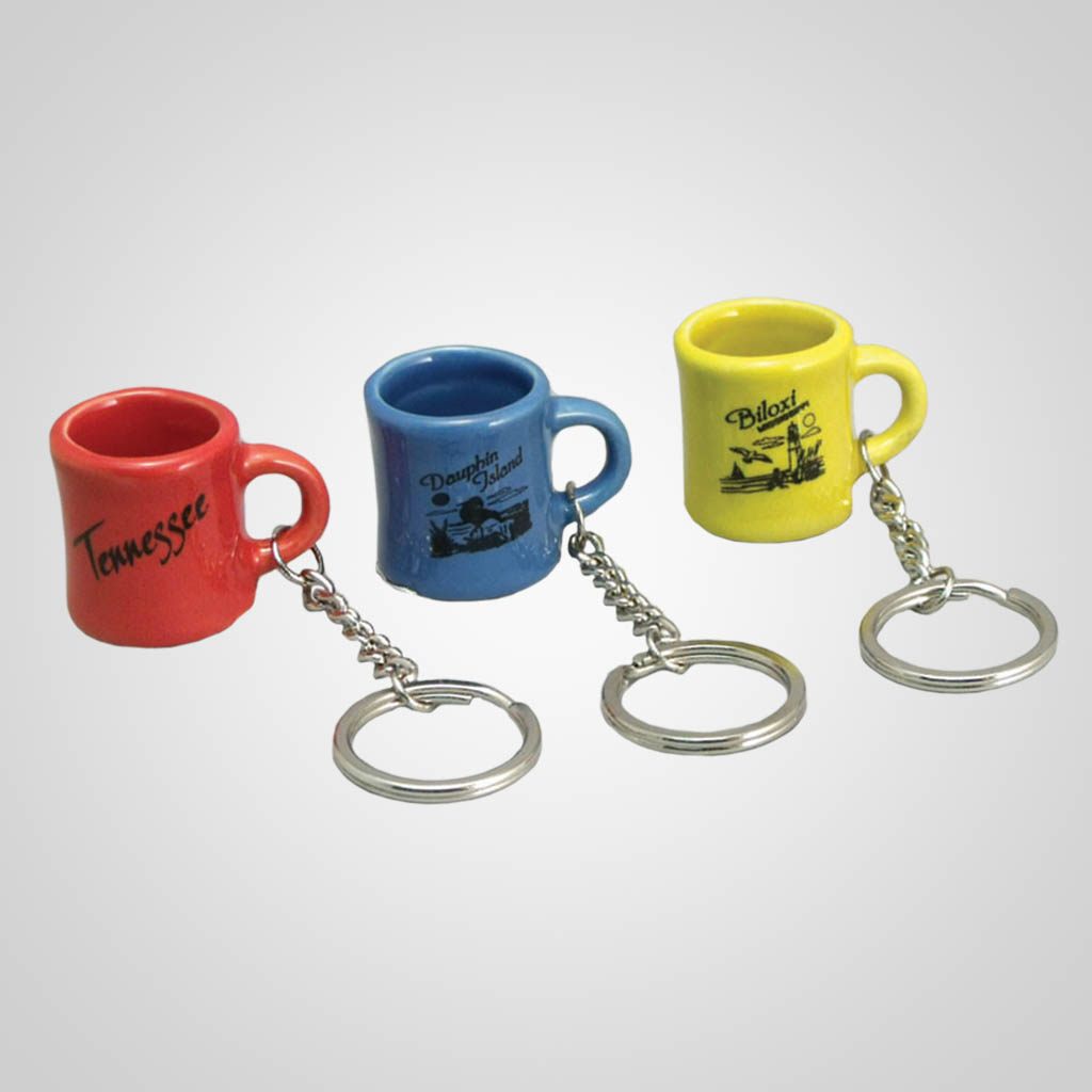 17903PP - Mini Mug Keychain - 1 Color Print