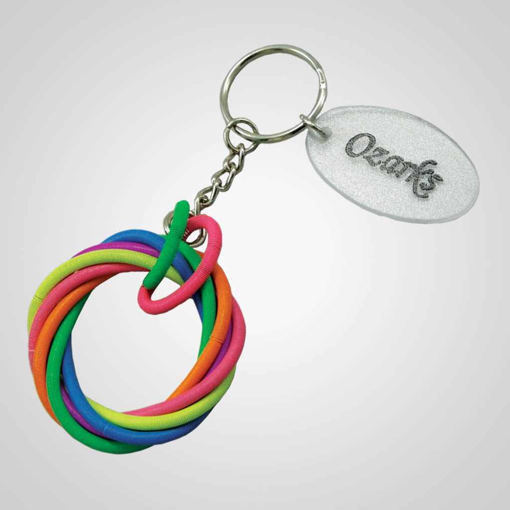 17906 - Rainbow Circle Keychain, Name-Drop