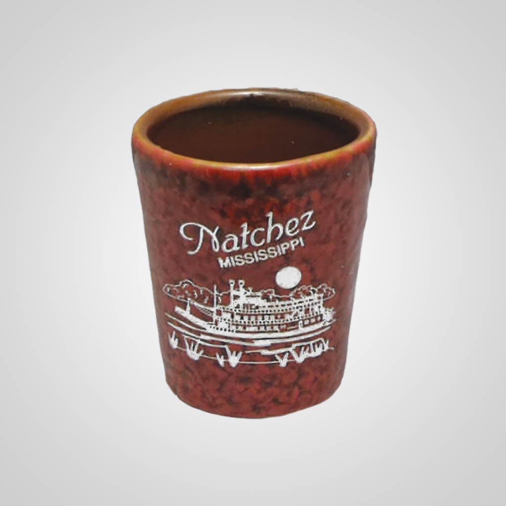17912PP - Red Textured Shot Glass - 1 Color Print