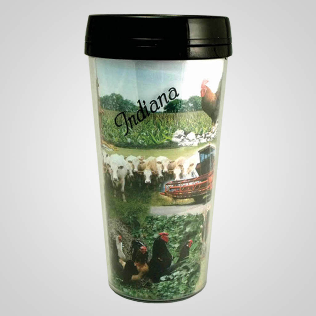 17948PP - Farm Scene Travel Tumbler, Name-Drop