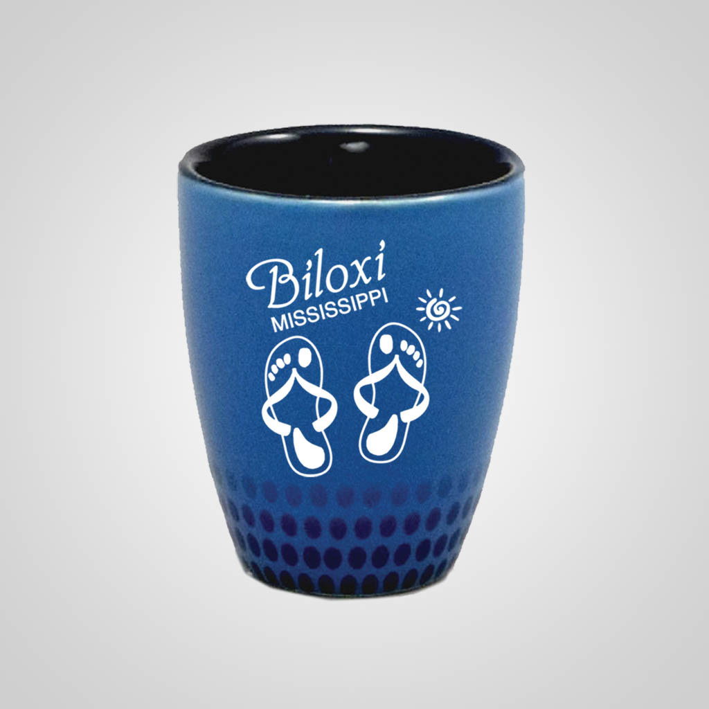 17951PP - Blue Dot Pattern Shot Glass - 1 Color Print