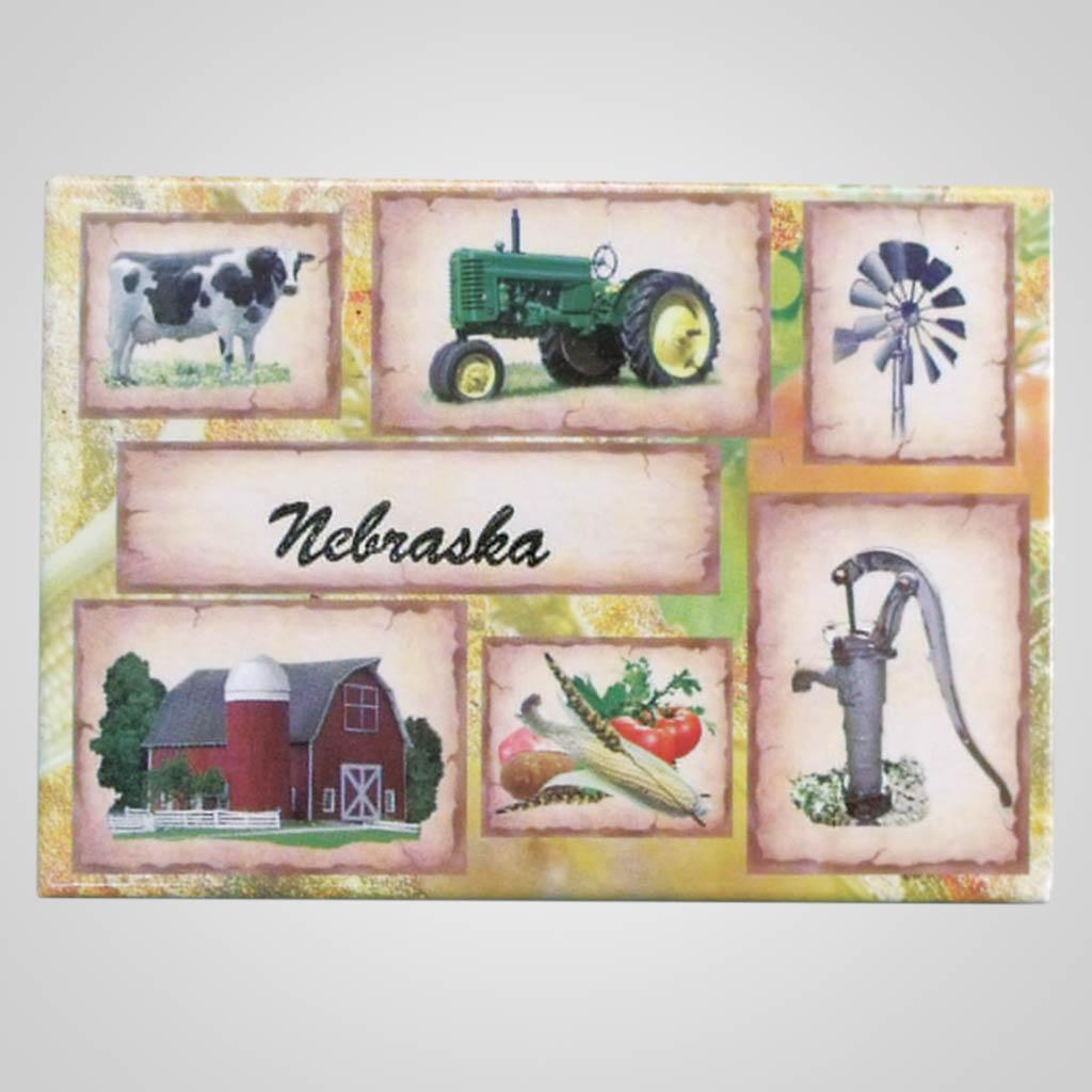 17955 - Tin Farm Scenes Magnet, Name-Drop