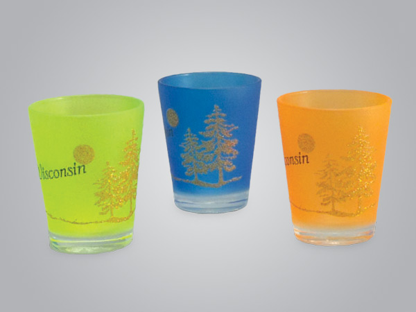 17969PP - Neon Frost Glitter Tree Shot Glass