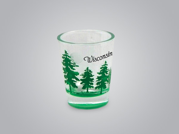 17974PP - Tree Etch Color-Fill Shot Glass