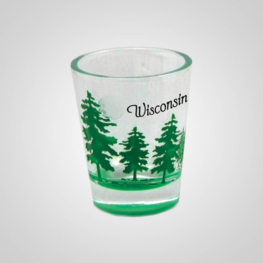 17974PP - Tree Etch Color-Fill Shot Glass, Name-Drop