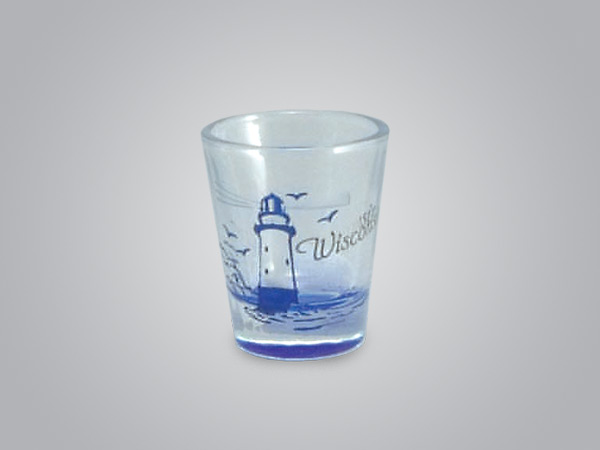 17977PP - Lighthouse Etch Color-Fill Shot Glass