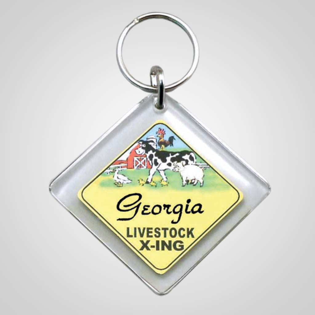 18003 - Livestock X-ing Sign Keychain