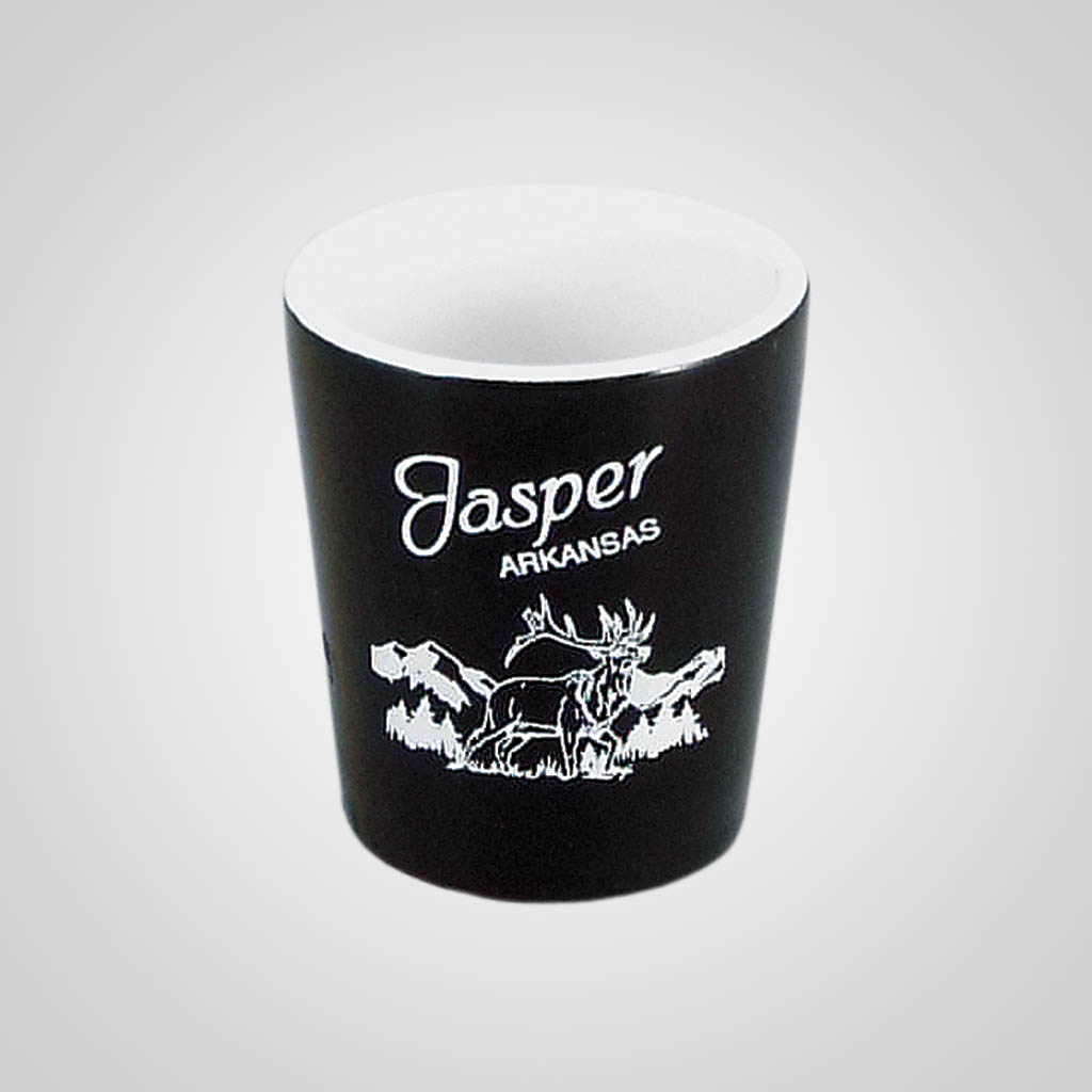 18034PP - Black & White Shot Glass - 1 Color Print