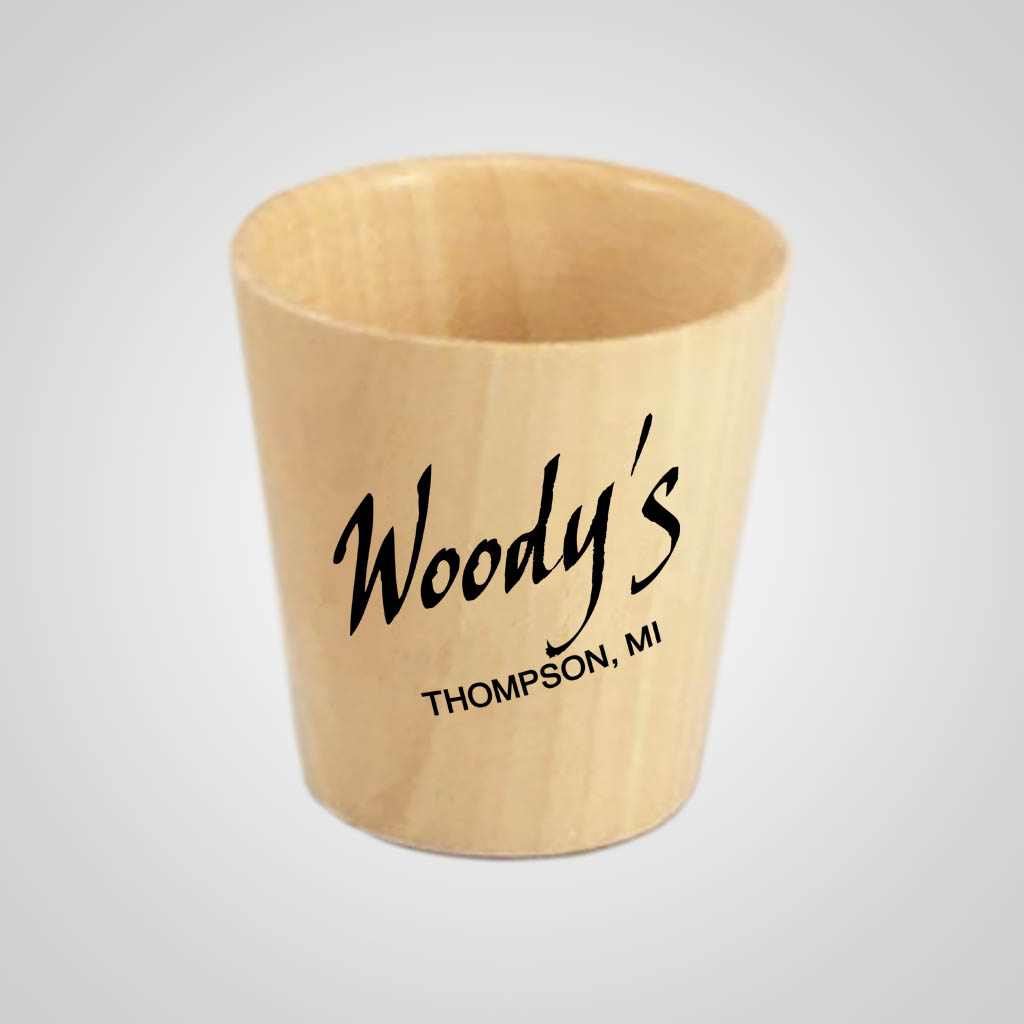 18040PP - Wood Shot Glass, 1 Color