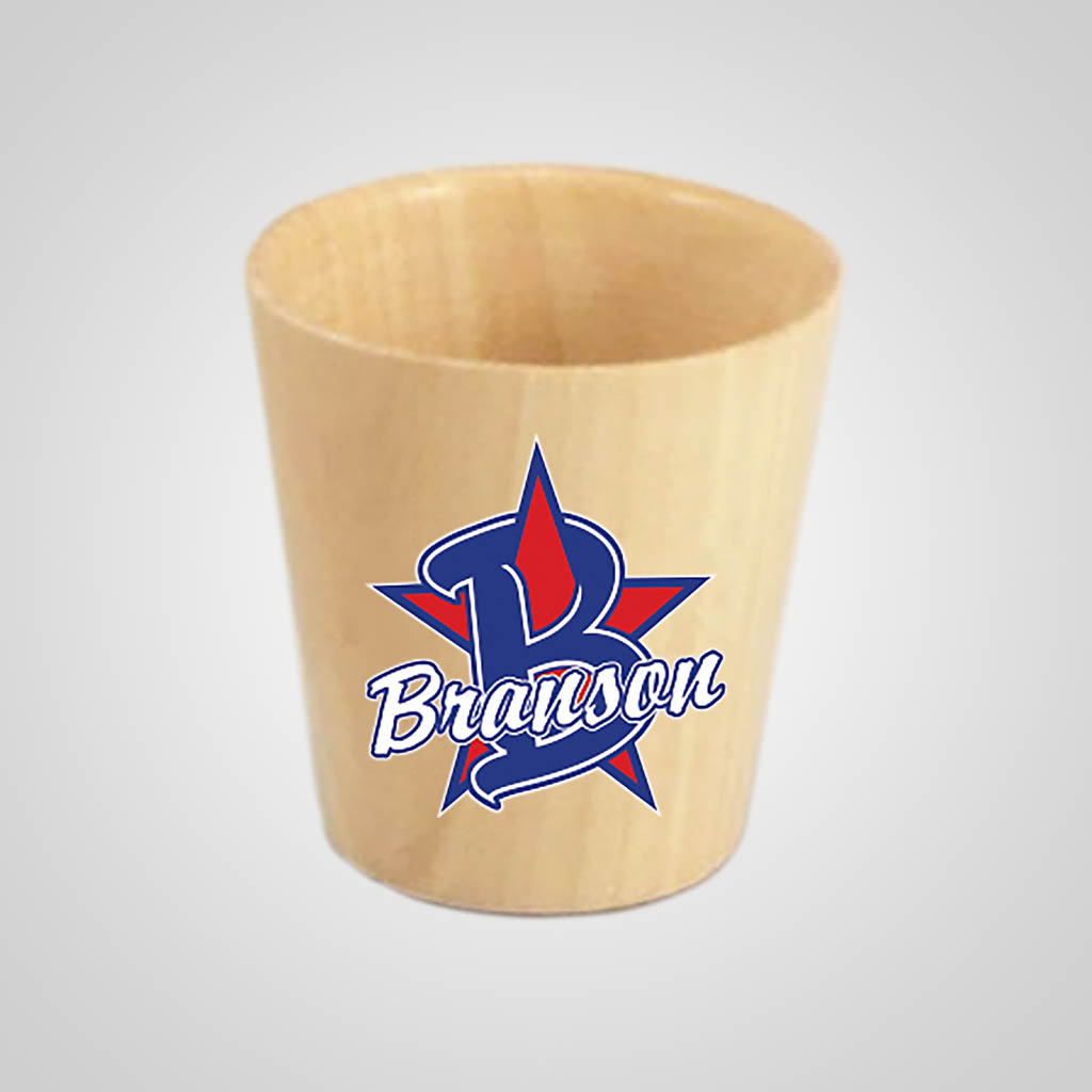 18040PPM - Wood Shot Glass, Multi-Color