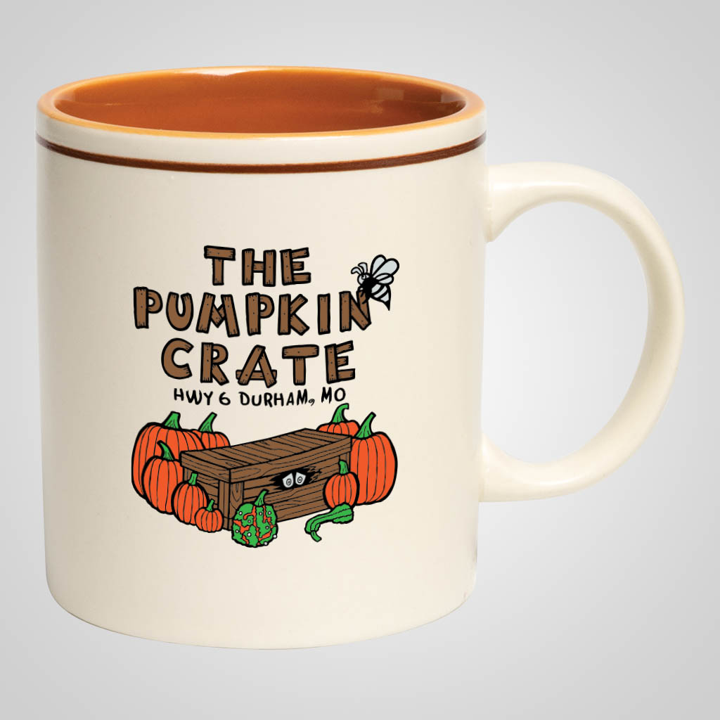 18054PPM - Matte Cream/Brown Mug - Multi - Color Print