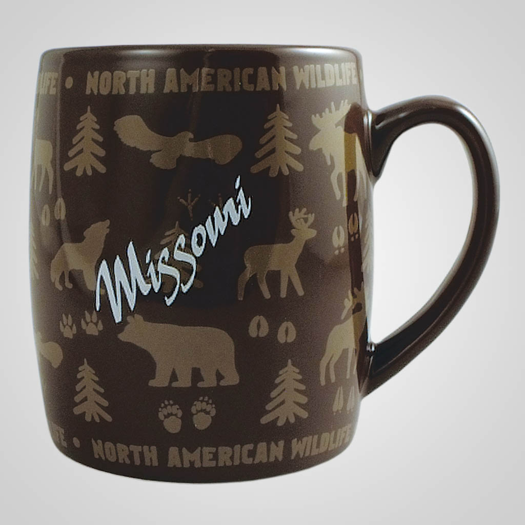 18060PP - Wildlife Wrap Barrel Mug, Name-Drop
