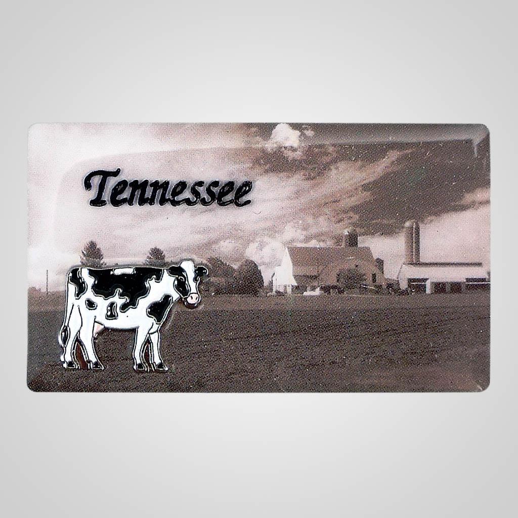 18124 - Sepia Farm Scene Magnet, Name-Drop