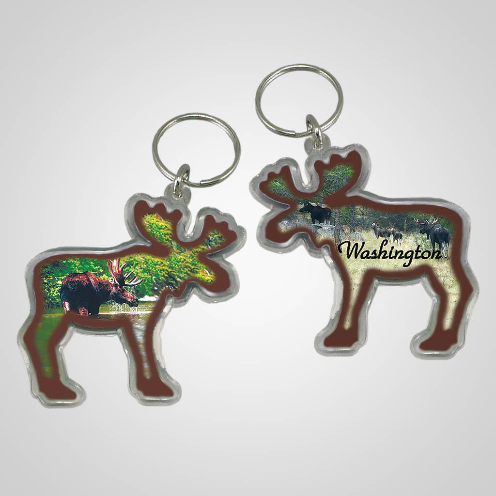 18128 - Moose Shaped Acrylic Keychain