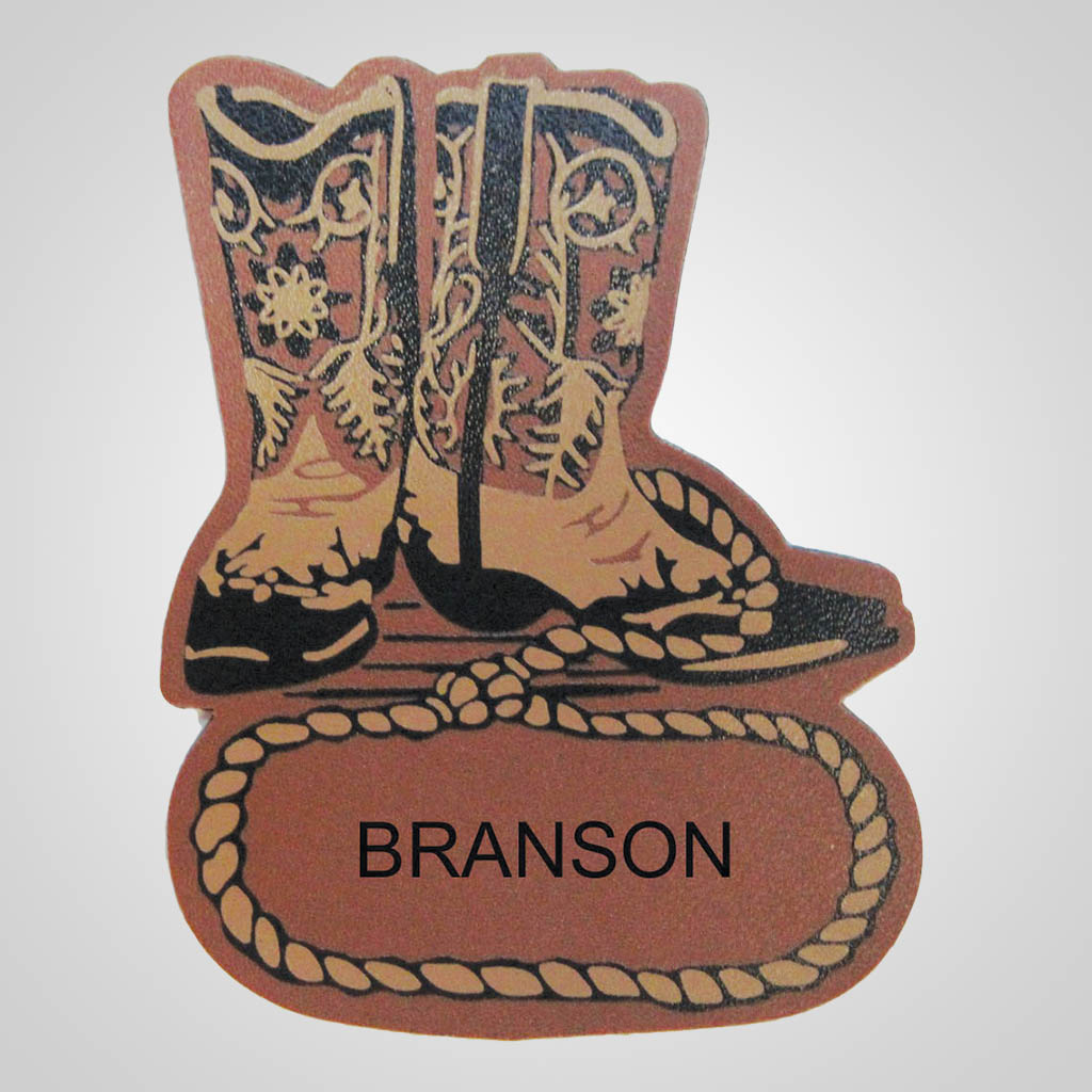 18140 - Leather-Look Boots Magnet, Name-Drop