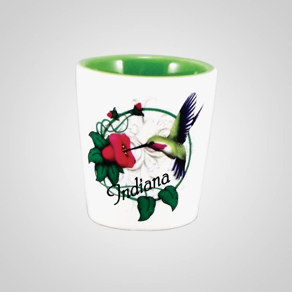 18277PP - Hummingbird Shot Glass,Name-Drop