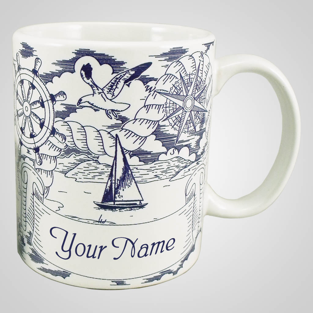 18288PP - Nautical Pencil Sketch Mug, Name-Drop