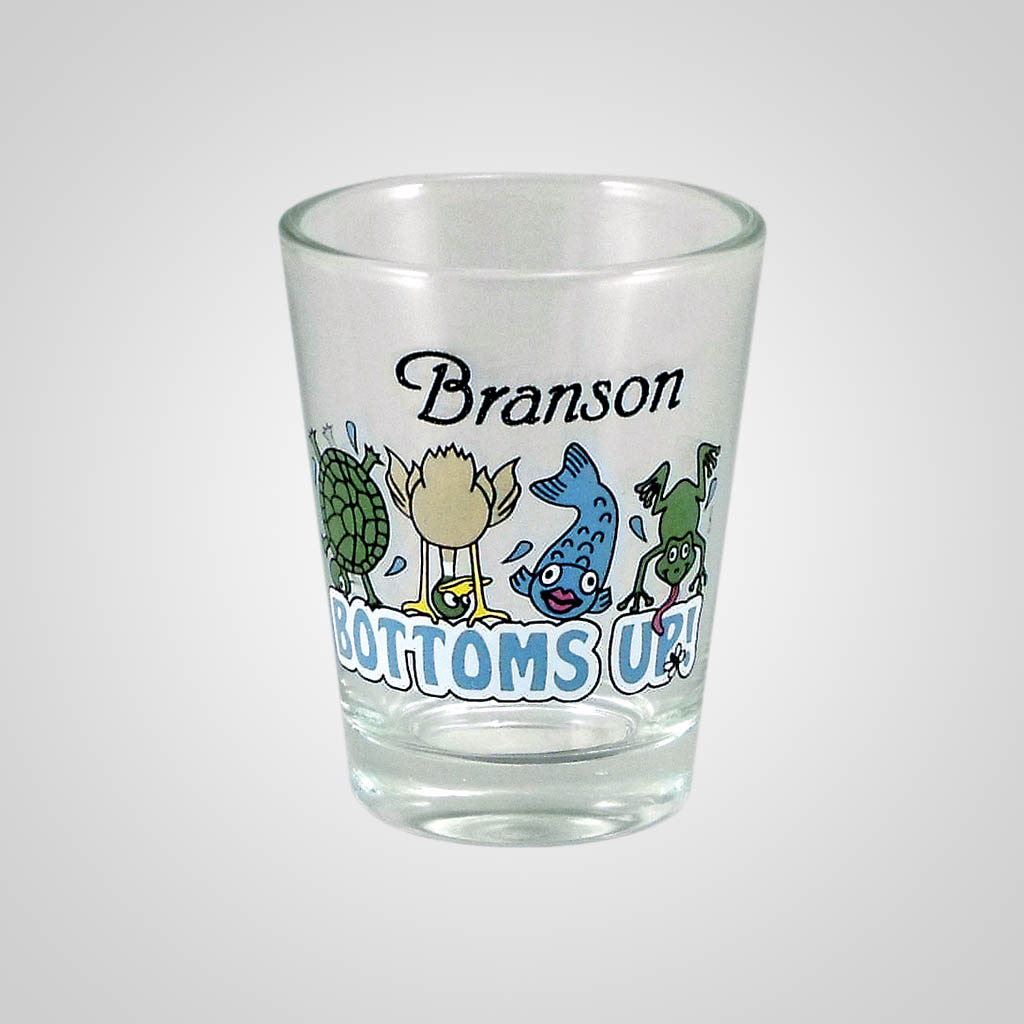 18299PP - Bottoms Up Comic Shot Glass, Name-Drop
